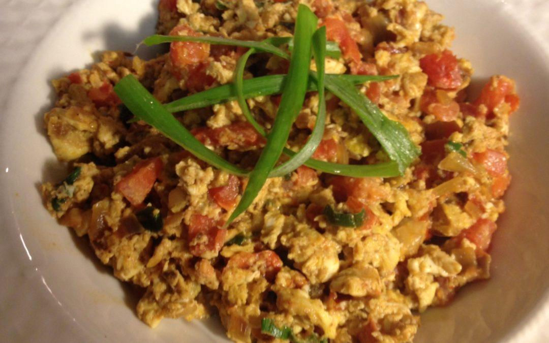 Recipe: Masala Scrambled Eggs for Easter