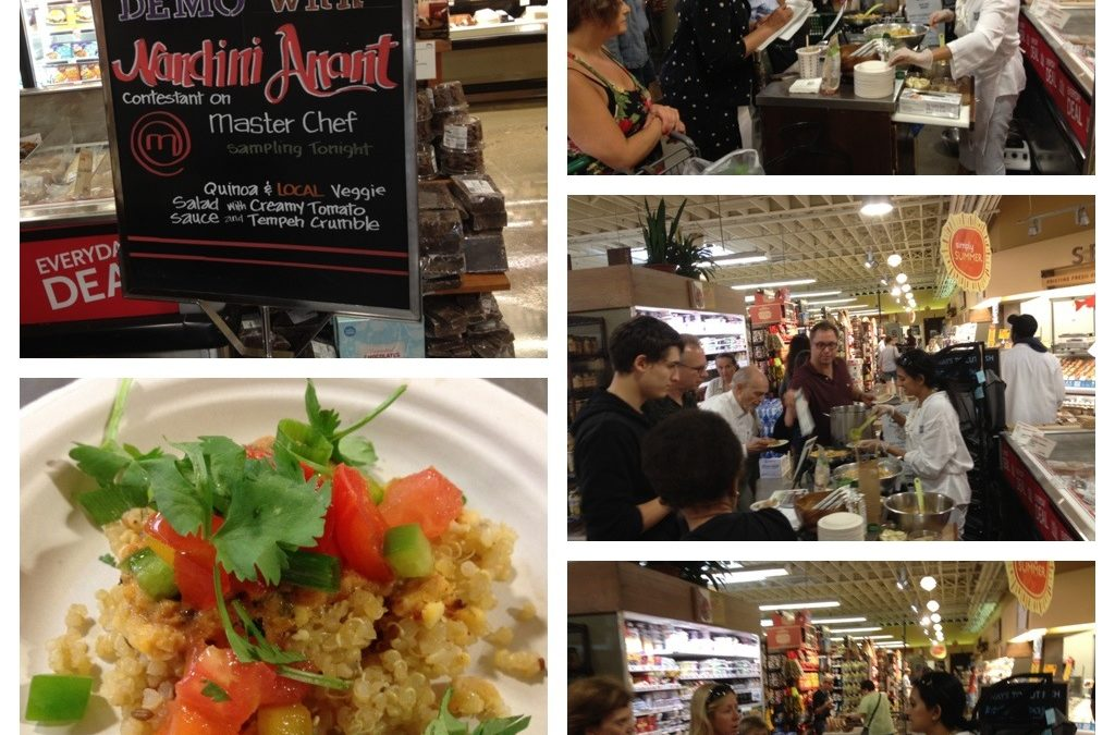 Best moments from my cooking demo at Whole Foods in Montclair