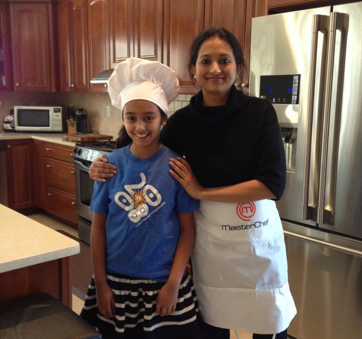 Cooking with 10 year old Anaya on her Birthday