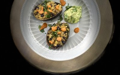 Quinoa Salad Boats with Guacamole